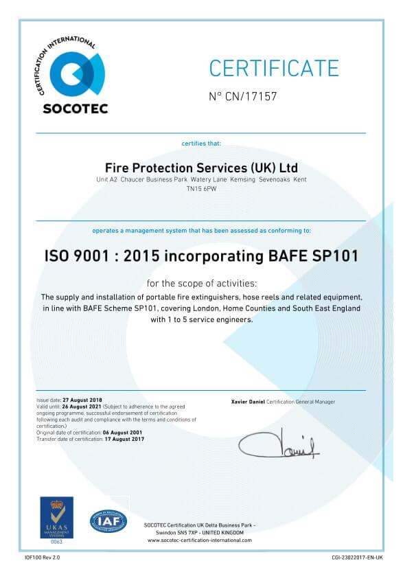 Socotec Certificate