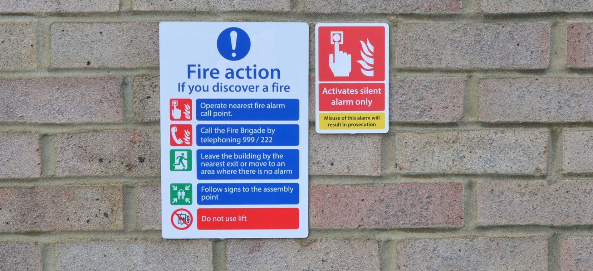 Mandatory Fire Action Notice Signs