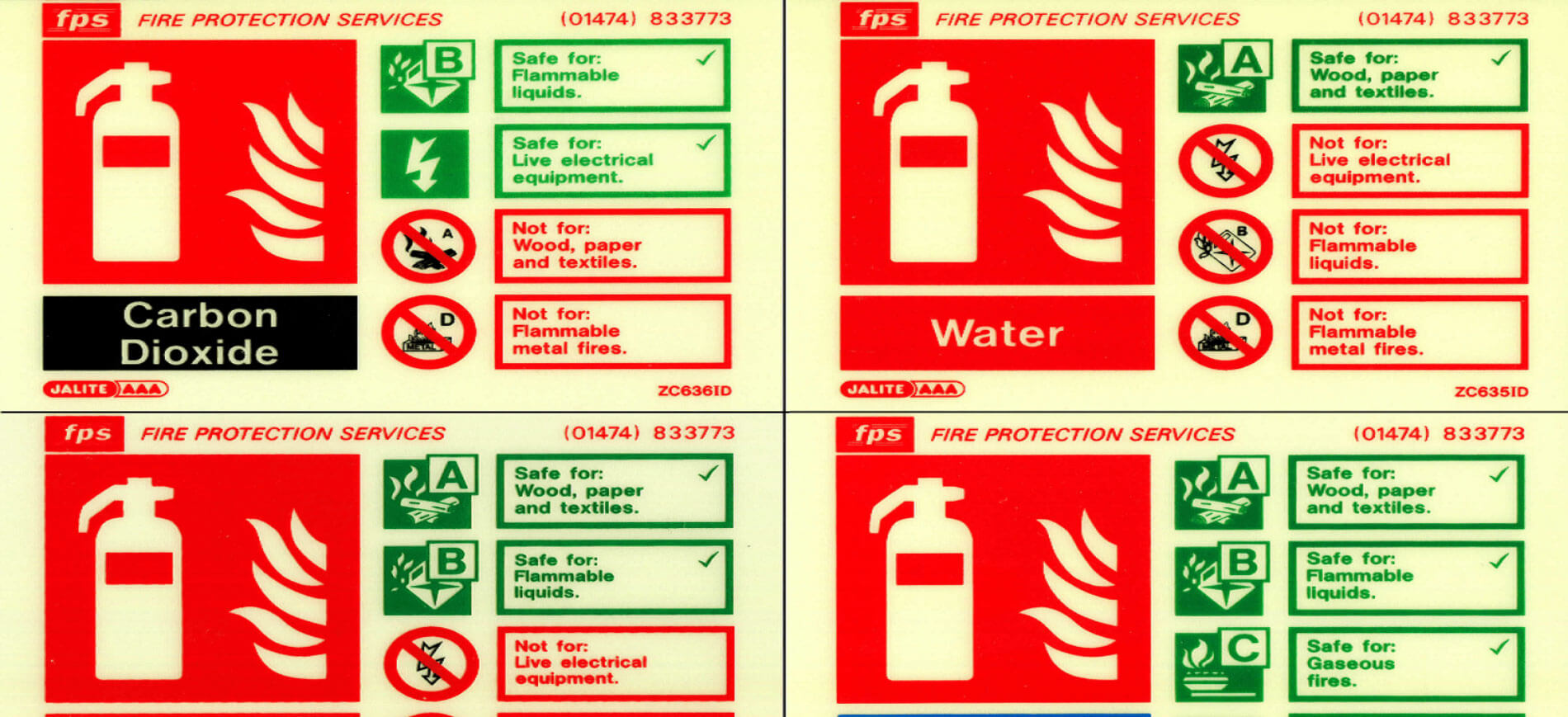 Fire Equipment Identification Signs